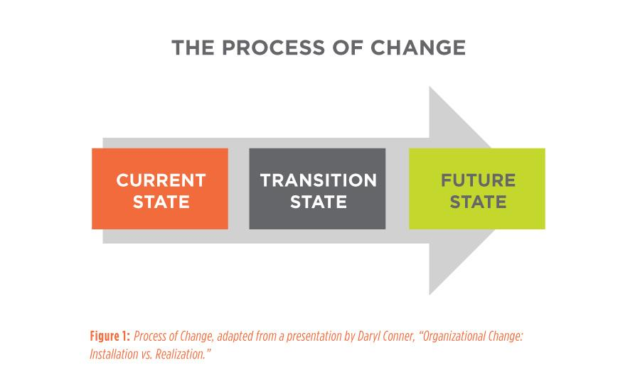 Figure 1 - Process of Change - Getting the most value from your external change resource