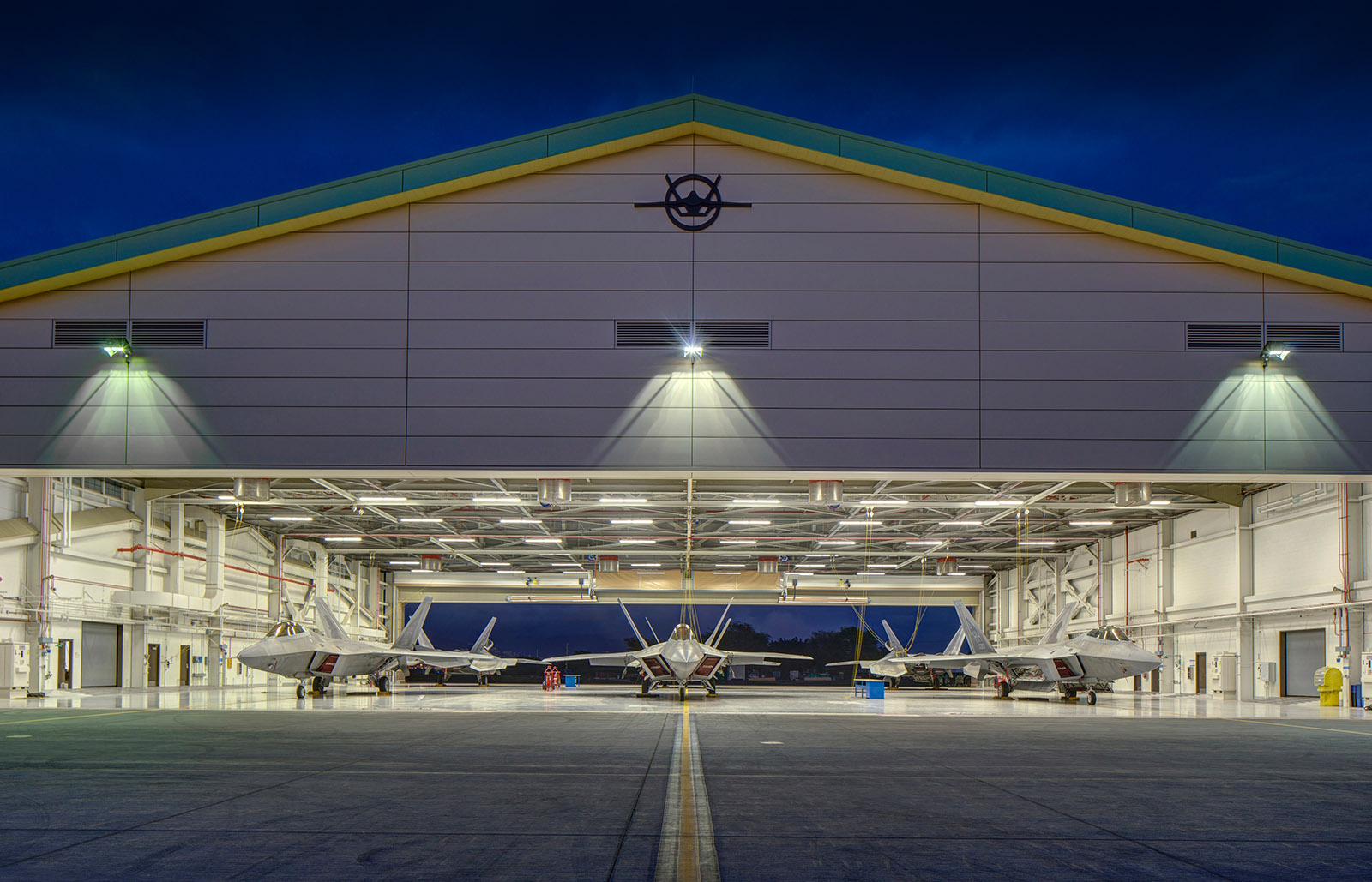 A LEED Platinum home for the F-22 - Daniel K. Inouye Fighter Squadron Operations & Aircraft Maintenance Hangar