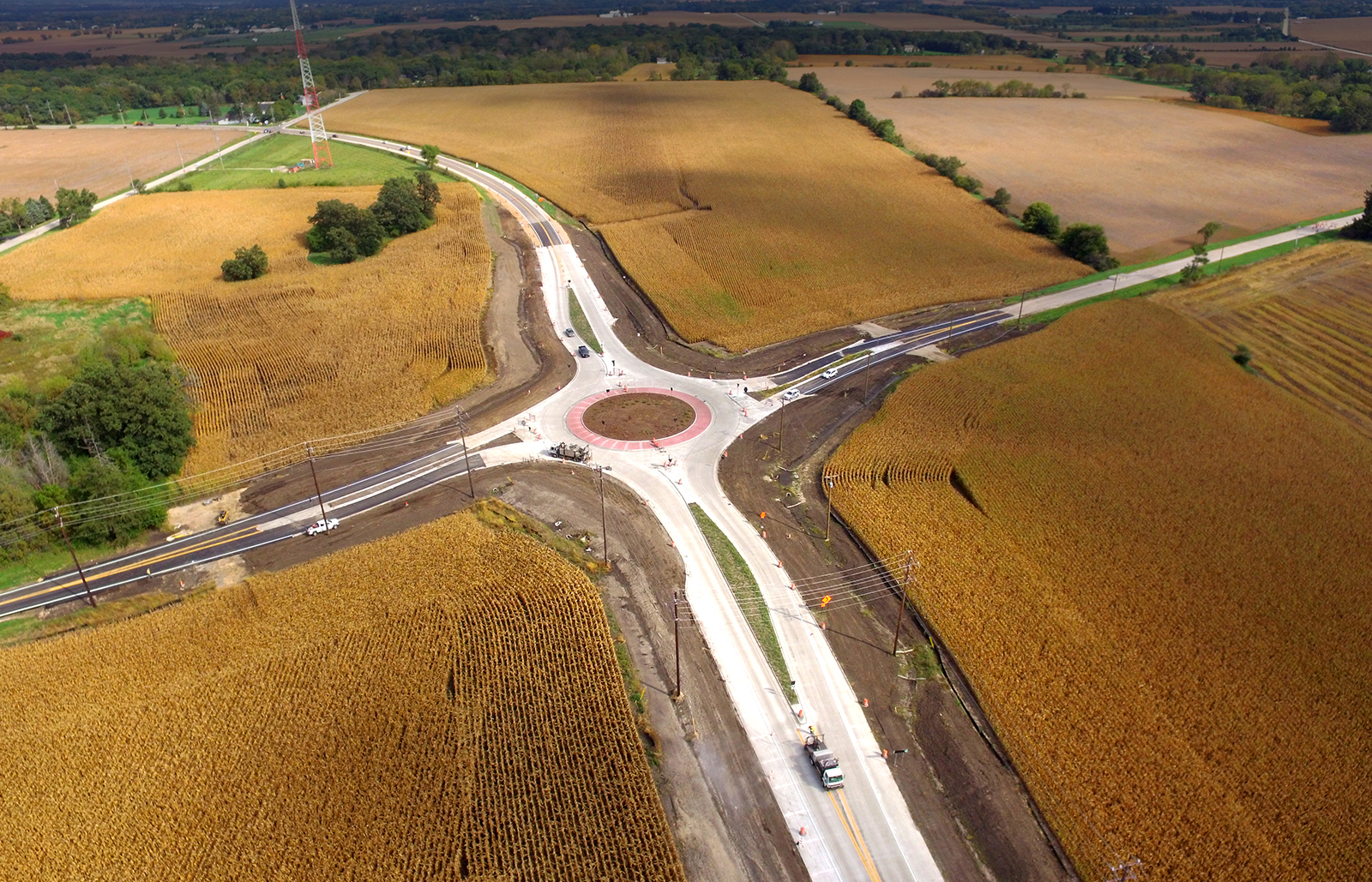 Kane County, Illinois, Roundabout, Burns & McDonnell
