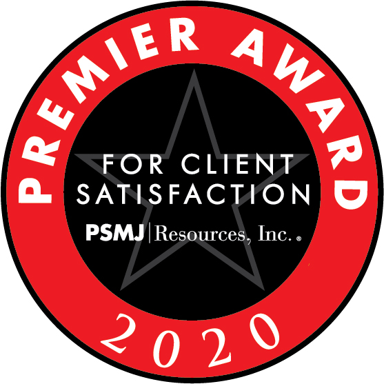 2019 Premier Award for Client Satisfaction, Professional Services Management Journal