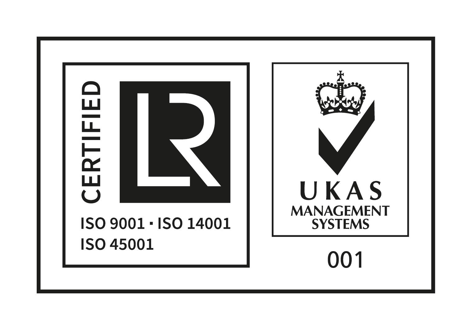 Lloyd's Register, ISO 9001, ISO 14001, ISO 45001, UKAS Management Systems