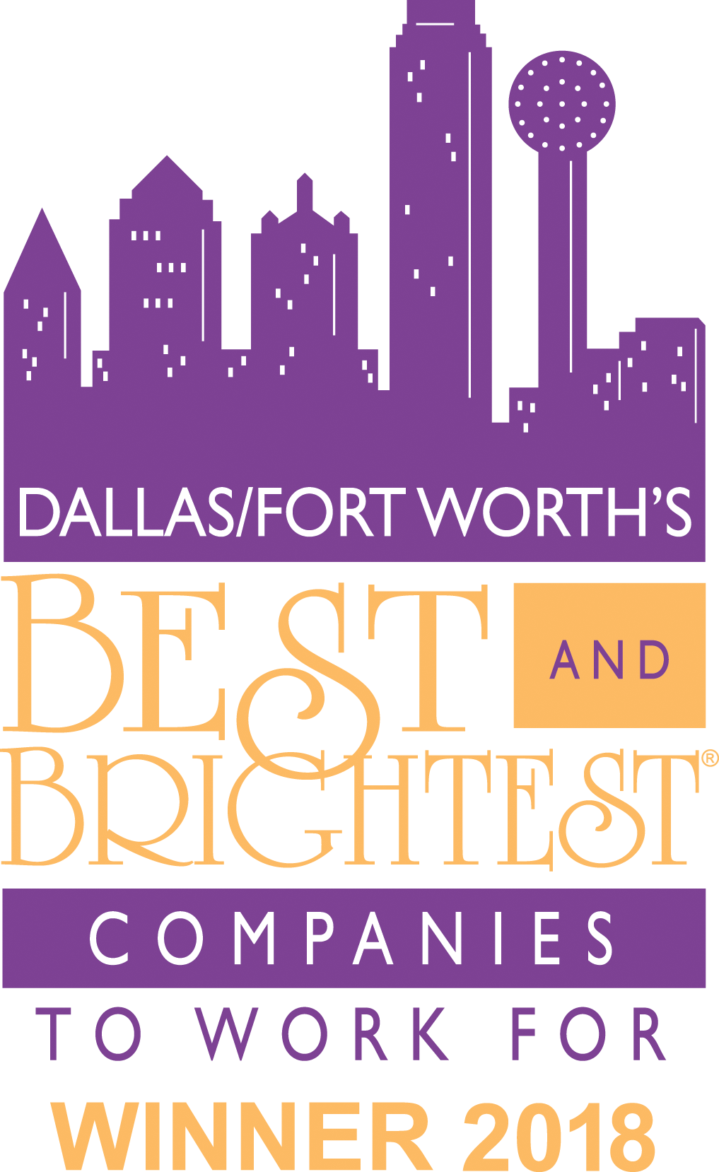 Best and Brightest Companies to Work For, Dallas-Fort Worth 2018, National Association for Business Resources