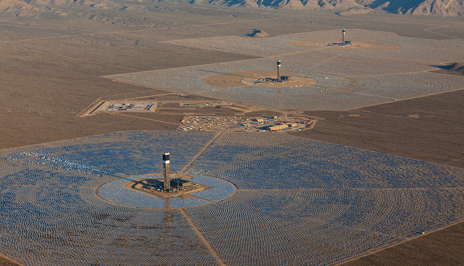 Ivanpah Solar Thermal Power Facility Projects Burns